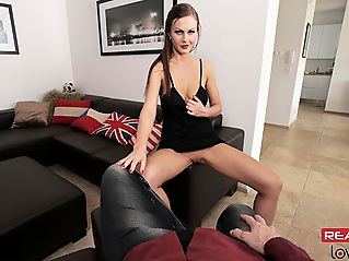 brunette blowjob british